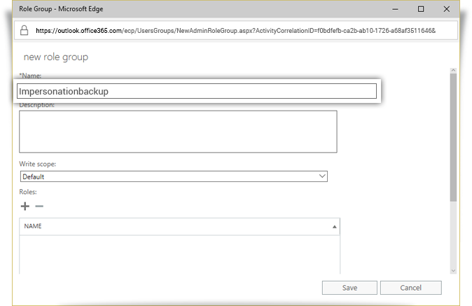 Granting Impersonation Rights - IBackup